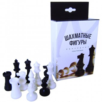 Шахматные фигуры пластиковые (В КОРОБКЕ) №3 М