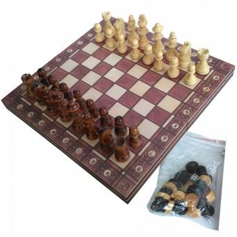 """Игра """"3 в 1"""" (шашки, шахматы, нарды дер доска на магнитах) 26171"""