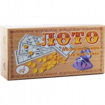 Лото Астрон (карточки + пласт фишки) в картон упаковке 02-127