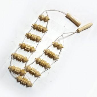 Массажёр плечевой 11 деревян роликов