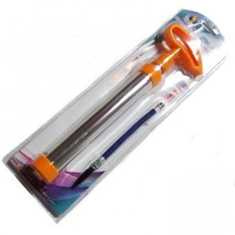 Насос алюминиевый 30см, F образная ручка с насадкой, шлангом и иглой ХУВ-291