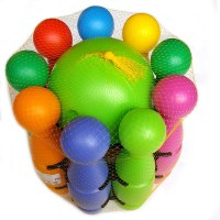 Кегли в сетке (большие) (9 кегл + 1 мяч) PL3355