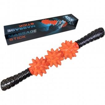 Массажер палка гимнастическая массажная мягкая (оранжевый) (B31640) MSG-100