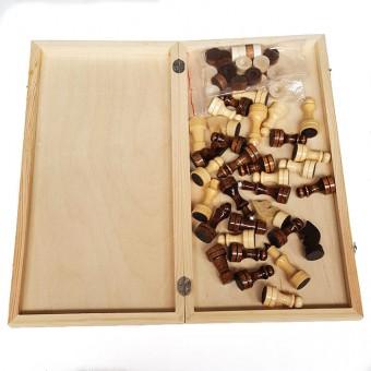 """Игра """"2 в 1"""" деревянная большая (шашки, шахматы) 400х200х36"""