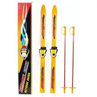 """Лыжи детские """"Вираж-Спорт"""" с палками"""