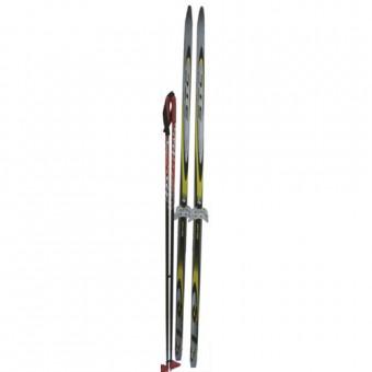 Набор лыжный 160 см (п/пластик; лыжи, палки, кр.-75 мм)