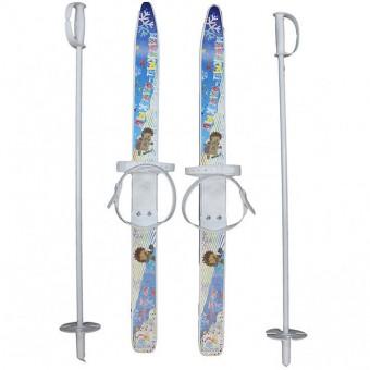"""Лыжи детские """"Лыжики пыжики"""" с палками (75 см)"""