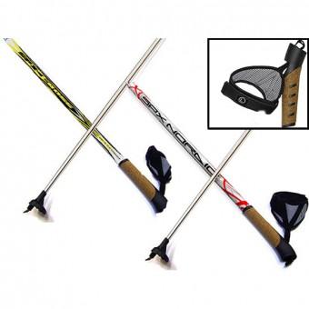 """Палки лыжные 165см """"Cross. Nordic"""" алюмин.-пробковая ручка"""
