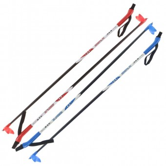 Палки лыжные 145 см (стеклопластик)