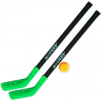 Набор детского хоккея 2 клюшки+шайба (в сетке) пластик 618