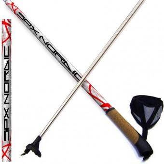 Палки лыжные 125см Cross. Nordic алюмин.-пробковая ручка