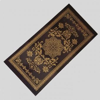 Нарды большие черные рисунок-золото с деревянными фишками