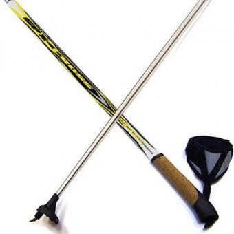 """Палки лыжные 130см """"Cross. Nordic"""" алюмин.-пробковая ручка"""