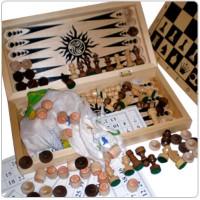 """Игра """"4 в 1"""" """"Сыграем""""(лото,шахматы,шашки,нарды)"""