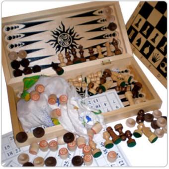 Игра 4 в 1 Сыграем(лото,шахматы,шашки,нарды)