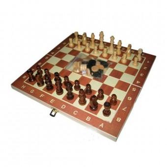 """Игра """"3 в 1"""" (шахматы, шашки, нарды) W001S дерево"""