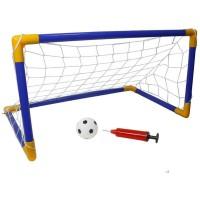 Игровой набор (Ворота 108*72*78 + Мячь + сетка и насос) 1663