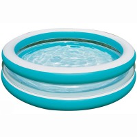 Бассейн (203х51 см) 3 кольца Бирюза 57489 (INTEX)