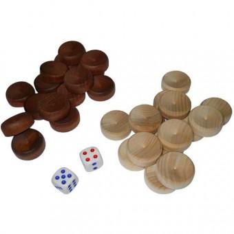 Набор для игры в нарды дерево+зары (малый) (М)