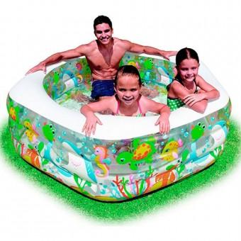 Бассейн-аквариум (191х178х61 см) 56493 (INTEX)