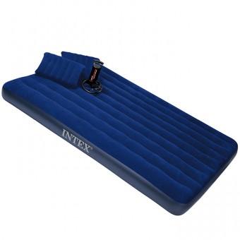 Матрас надувной с насосом +2 подушки (152 х 203х22 см) 68765 (INTEX)