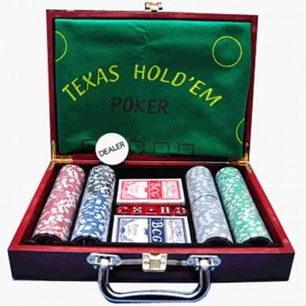 """Игра """"Покер"""" в металлическом кейсе на 200 фишек/F04450"""