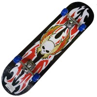 Скейт 4 колеса деревянный 78х20 см (3108)