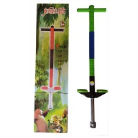 Погостик - кузнечик (POGO STICK), для детей и подростков, до 35кг, 2-ная пружина, платформа 725