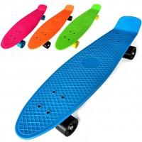 Скейтборд (пенниборд) пластик 68х19,5 см (26030,31,32,33,34) больш цвет ассорт