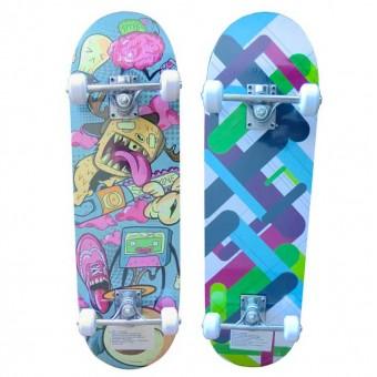 Скейтборд (размер дэки 28*8, колеса 50х30мм ПВХ; Р281