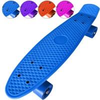 Скейтборд (пенниборд) пластик цв ассорти 55х15 см подш ABEC7, жест колес 78А (JY-209)