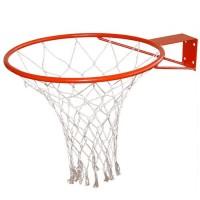 Кольцо баскетбольное №5 с упором сеткой ЛЮКС