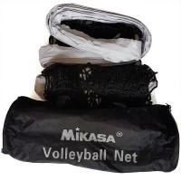 Сетка волейбольная с тросом MIKASA, черная, 950*100, ячейки 10*10 (улучш)