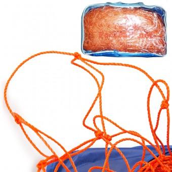 Сетка футбольная NEW-11 для ворот 7,32х2,44м оранжевая