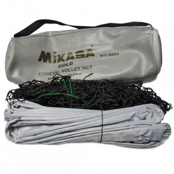Сетка волейбольная Mikasa Gold в чехле + трос 8004 Чехол СЕРЕБРО