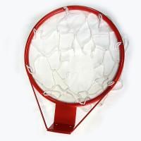 Кольцо баскетбольное №5 (с сеткой) диам.380 мм с упором (Т)