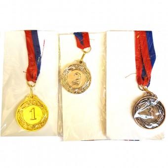 Медаль 1,2,3 место малая (3 шт/уп)