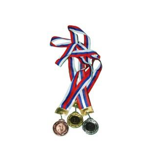 Медаль 1,2,3 место большая 65мм (3 шт/уп)