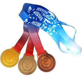 Медаль 1,2,3 место средняя (3 шт/уп)