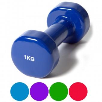 Гантель (винил) 1,0 кг (цв. ассорти)