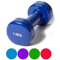 Гантель (винил) 1,5 кг (цв. ассорти)