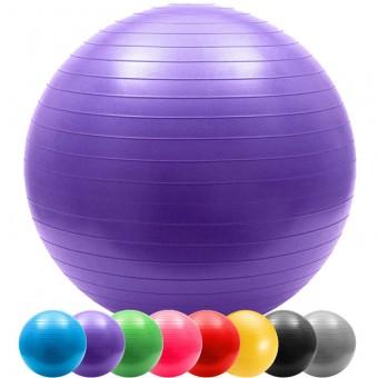 Мяч д/фитнеса 85 см Anti-burst в пакете 803