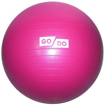"Мяч д/фитнеса 55 см (цв. ассорти) ""Anti-burst"" в коробке GO-DO"