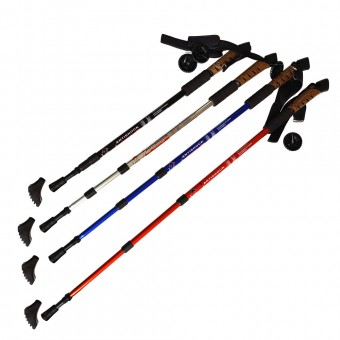 Палки для скандинавской ходьбы телескоп. 80-135 см (H10017, 18440,41,42,43)