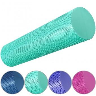 Валик для йоги полумягкий Профи 45x15cm (цв. асс) (ЭВА) 33084