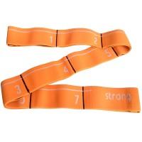 Эспандер эластичная лента 5*82 см (оранжевая) (с прошитыми петлями для захвата) MRB8011