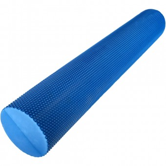 Валик для йоги полумягкий Премиум 90x15cm (синий) (ЭВА) EVR125-90D
