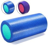 Валик для йоги полнотелый 2-х цветный (синий/зеленый) 150х300мм., ПЭ PEF100-31