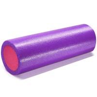Валик для йоги полнотелый 2-х цветный (фиолетово/розовый) 150х450мм., ПЭ PEF100-45