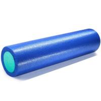 Валик для йоги полнотелый 2-х цветный (синий/зеленый) 150х610мм., ПЭ PEF100-61